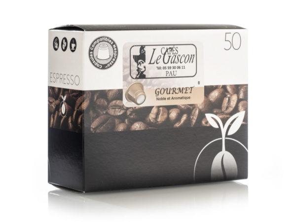 Boite 50 Capsules Cafe Gourmet