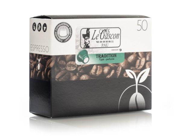 Boite 50 Capsules Cafe Tradition